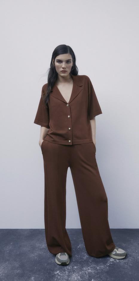 traje de punto con pantalón superior simple NHAM316881's discount tags