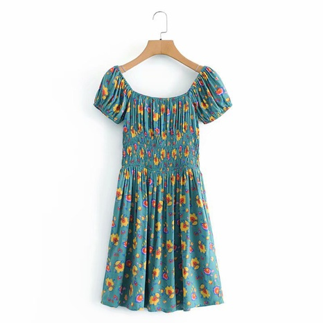 new fashion rayon watermark floral short-sleeved dress NHAM316888's discount tags