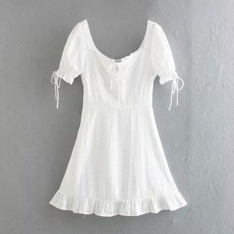 fashion puff sleeve lace embroidered dress NHAM316891's discount tags