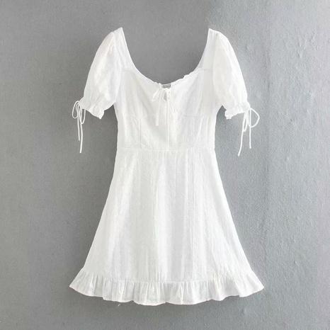 Mode Puffärmel Spitze besticktes Kleid NHAM316891's discount tags