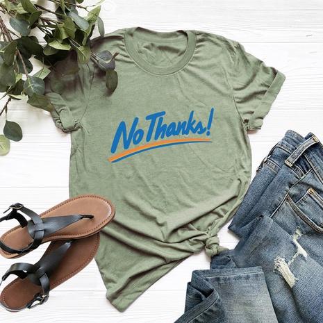 Buchstaben bedrucktes Baumwoll-Kurzarm-T-Shirt NHSN317016's discount tags