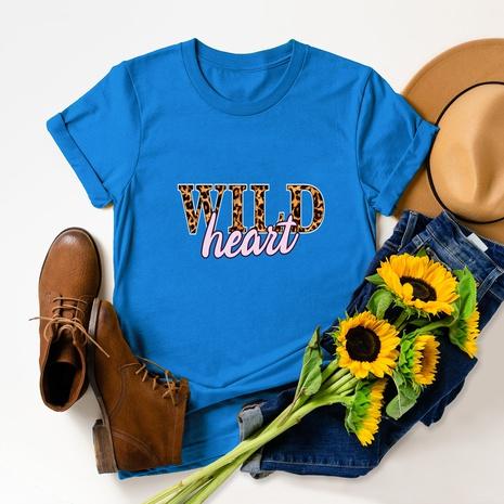 print short sleeve cotton T-shirt NHSN317019's discount tags