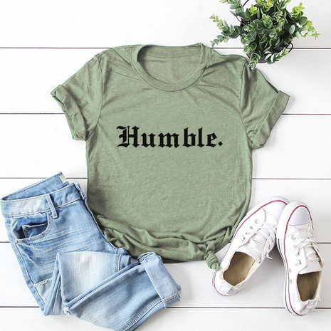 alphabet print short sleeve cotton T-shirt NHSN317020's discount tags