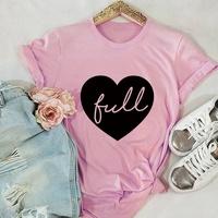 Herz Baumwolle Kurzarm T-Shirt NHSN317021