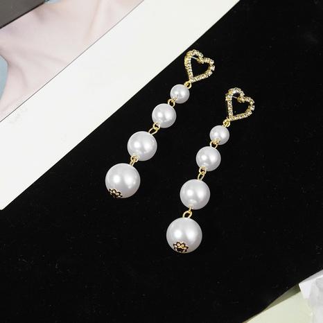 Korean S925 silver needle pearl long earrings NHQC317028's discount tags