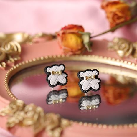 simple retro bear bow earrings NHYI317067's discount tags