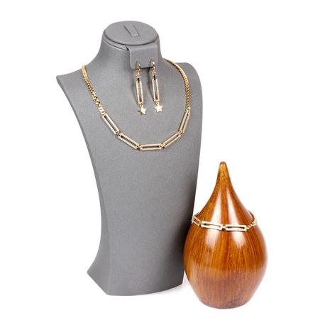 Neue Mode einfache Diamond Thick Chain Halskette Set NHPY317076's discount tags