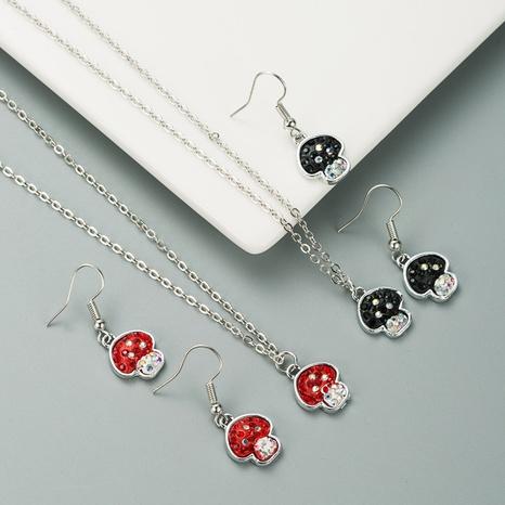 einfache schöne Pilzform Ohrringe Halskette Set NHLN317098's discount tags