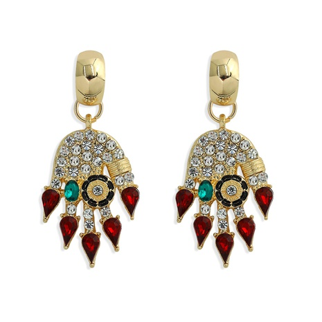 fashion creative diamond-studded palm earrings NHJQ317130's discount tags