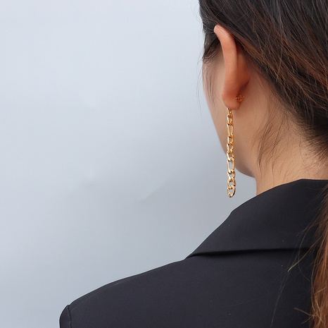 chain asymmetrical earrings  NHOK317135's discount tags