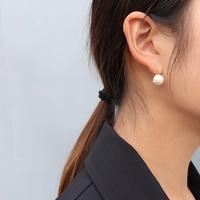 Retro Mode Nachahmung Perle Titan Stahl Ohrringe NHOK317140