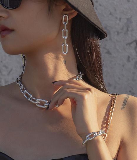 Mode Kreuz Quaste einfache Retro-Kette Halskette Set NHXR317185's discount tags