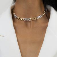 Mode einfache Kreuzkette geometrische Chocker Halskette NHXR317189