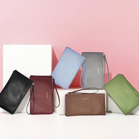 Retro long wallet Korean multifunctional girl clutch purse NHBN317206's discount tags