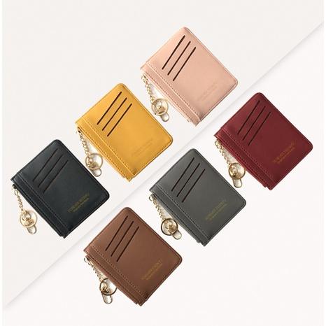 Korean zipper girl coin purse mini key hook wallet multi-card card holder wholesale NHBN317205's discount tags