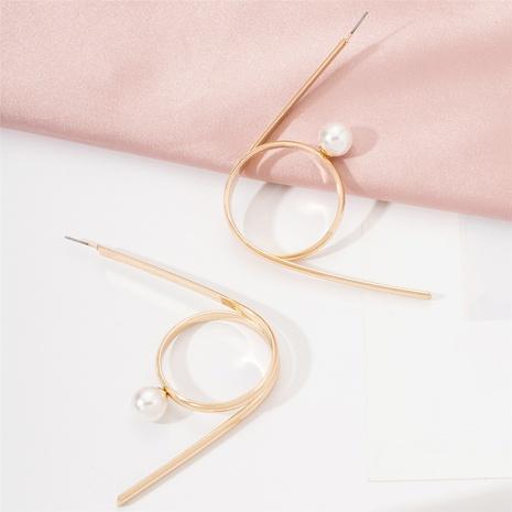 Korea fashion exaggerated creative geometric pearl earrings NHAI317214's discount tags