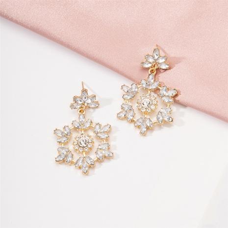 simple fashion diamond flower earrings NHAI317215's discount tags