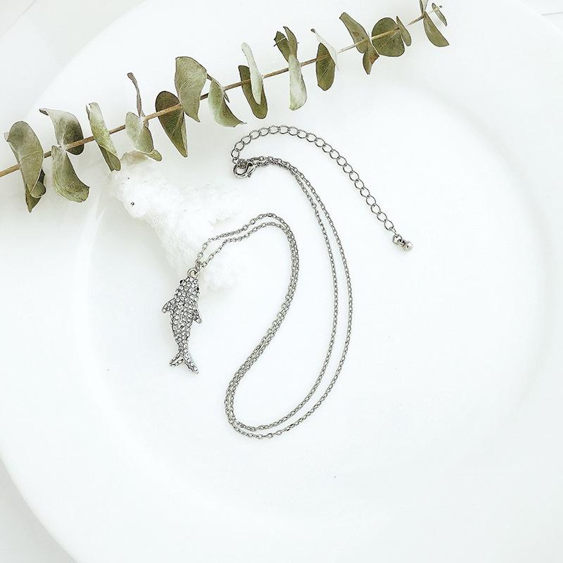 fashion simple Long Diamond necklace NHQD317240