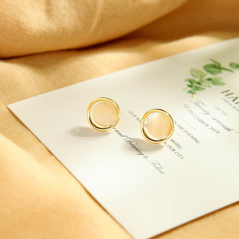 fashion geometric opal earrings NHQD317241