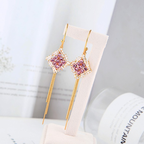 Geometric fashion tassel earrings NHQD317247's discount tags