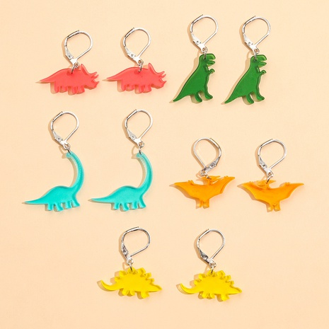 fashion cute Stegosaurus Acrylic Earrings set NHPV317279's discount tags