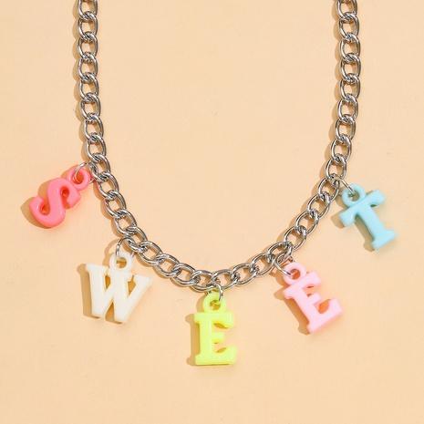 Halskette aus süßem Buchstabenharz NHPV317302's discount tags