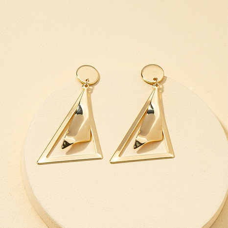 Metal geometric earrings NHQJ317333's discount tags