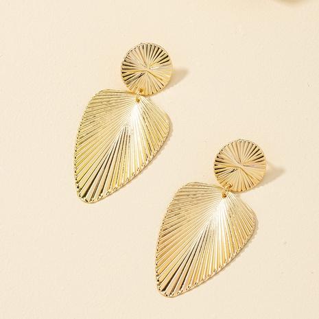 new metal leaf earrings  NHQJ317335's discount tags