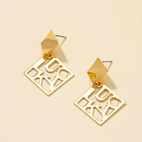 retro hollow geometric fashion earrings NHQJ317338's discount tags