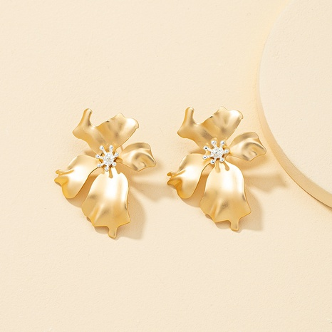 Metal flower earrings wholesale NHQJ317339's discount tags