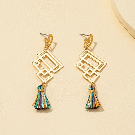 retro tassel heart-shaped earrings  NHQJ317340's discount tags