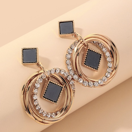 five-pointed star diamond multi-layer circle earrings NHNJ317354's discount tags