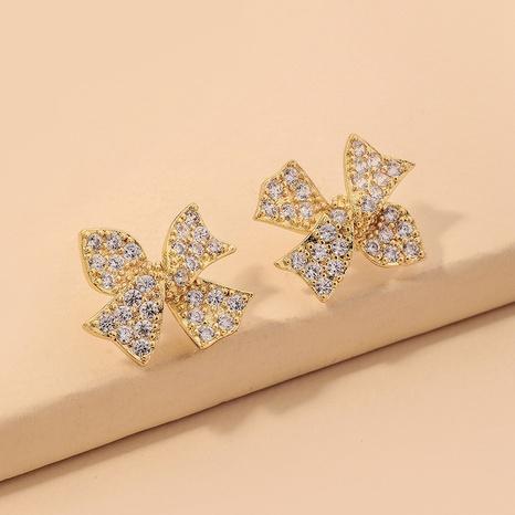 cute bow diamond earrings  NHNJ317356's discount tags