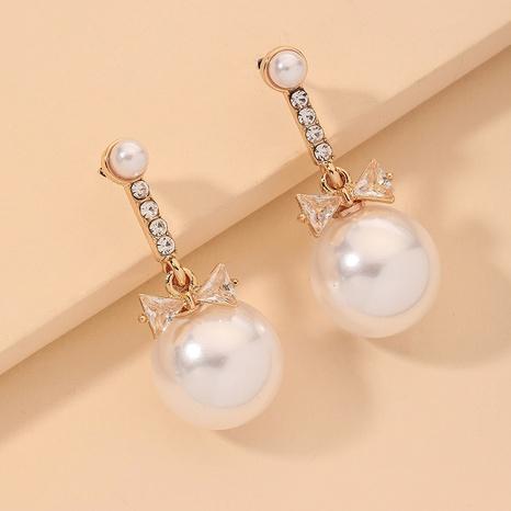 diamond bow elegant earrings NHNJ317367's discount tags