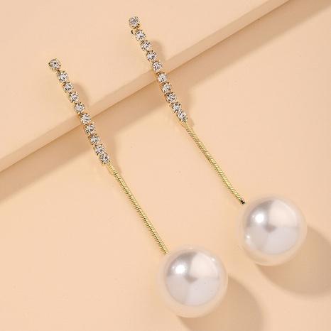 fashion simple big pearl earrings  NHNJ317371's discount tags
