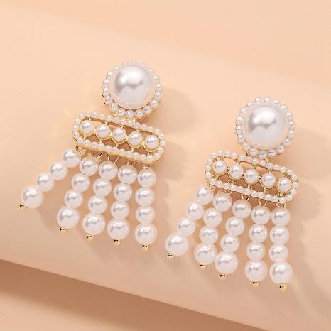 fashion pearl tassel earrings  NHNJ317374's discount tags