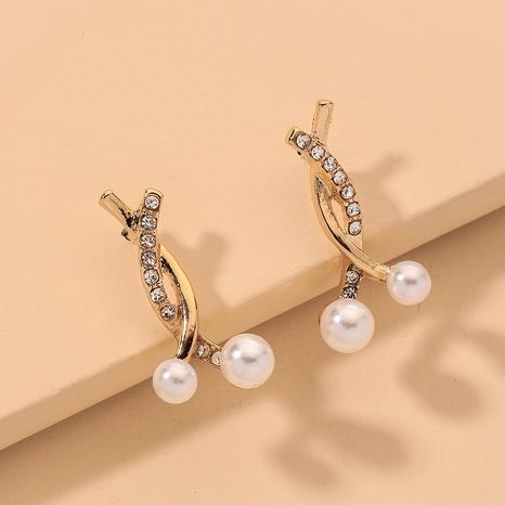 cross diamond pearl earrings  NHNJ317387's discount tags