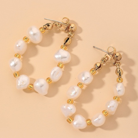 simple elegant fashion pearl earrings  NHNJ317391's discount tags