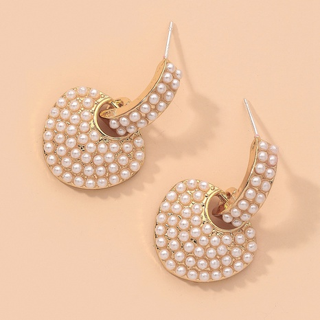 fashion heart pearl earrings  NHNJ317395's discount tags