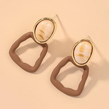 geometric square simple fashion earrings NHNJ317399's discount tags