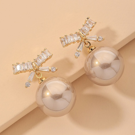 bowknot pearl exquisite fashion earrings NHNJ317406's discount tags
