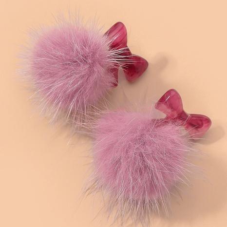 bowknot plush beautiful earrings NHNJ317412's discount tags