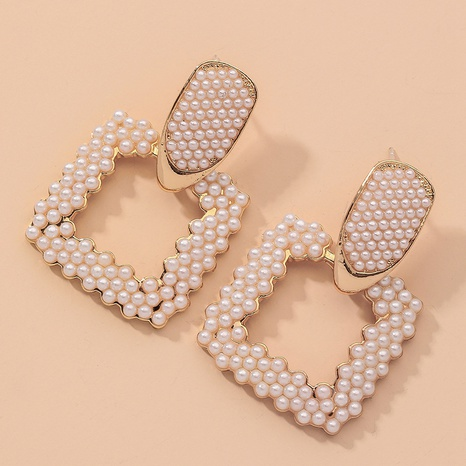 fashion retro exquisite pearl earrings  NHNJ317414's discount tags