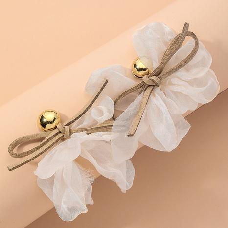 bowknot gauze flower earrings  NHNJ317422's discount tags