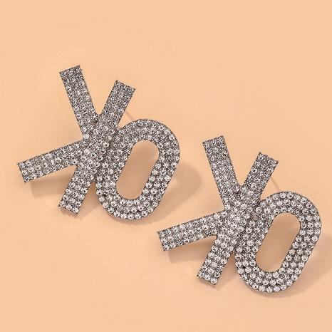 flashing diamond fashion retro earrings  NHNJ317423's discount tags