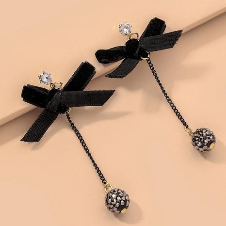 fashion velvet bow earrings  NHNJ317424's discount tags