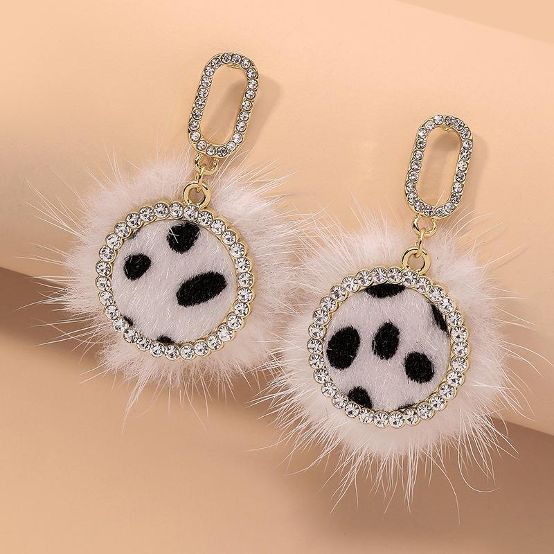 Leopard Print Fashion Elegant Earrings NHNJ317425