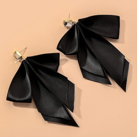 Ribbon Bow Pure Color Earrings  NHNJ317427's discount tags