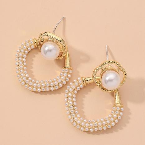 simple retro pearl earrings  NHNJ317432's discount tags