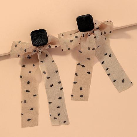 ribbon bow earrings  NHNJ317444's discount tags